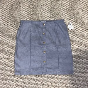 Blue Suede Pencil Skirt size large